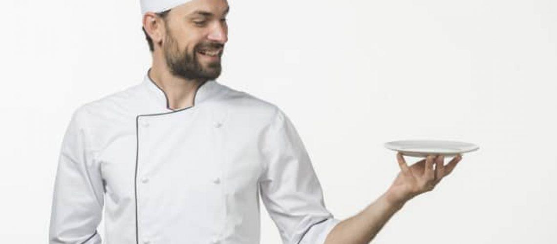 professional-male-cook-chef-s-white-uniform-presenting-dish-white-background_23-2147863827